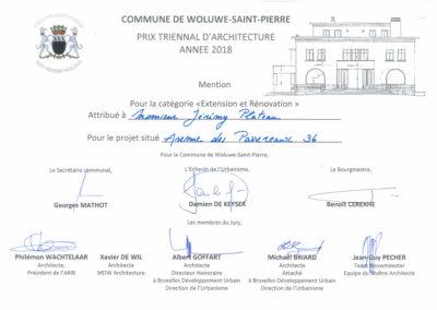 ICI architectes Prix d'architecture Woluwe2018